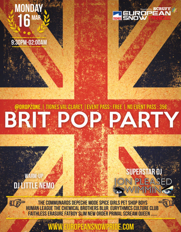 British Pop Party @ European Snow Pride 2020
